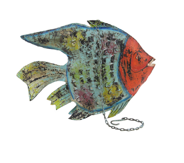Multi Colored Metal Fish Lantern