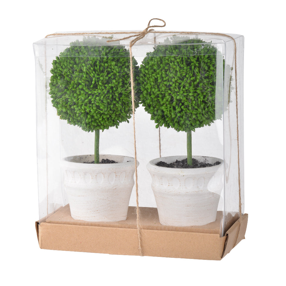 Mini Faux Topiaries