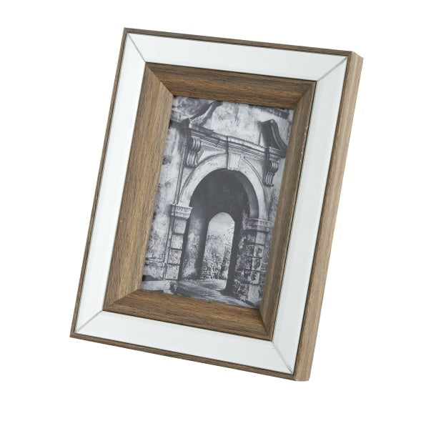 Mirror & Wood Frame