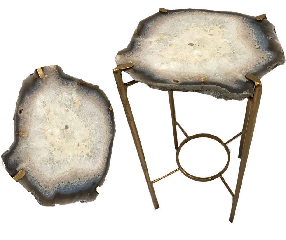 Agate Slice Side Table