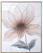 Blush and Smokey Blooms Wall Art