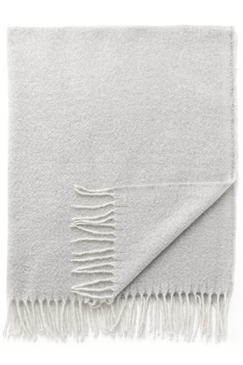 Ivory Knit Throw