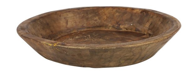 Wide Wooden Bowl