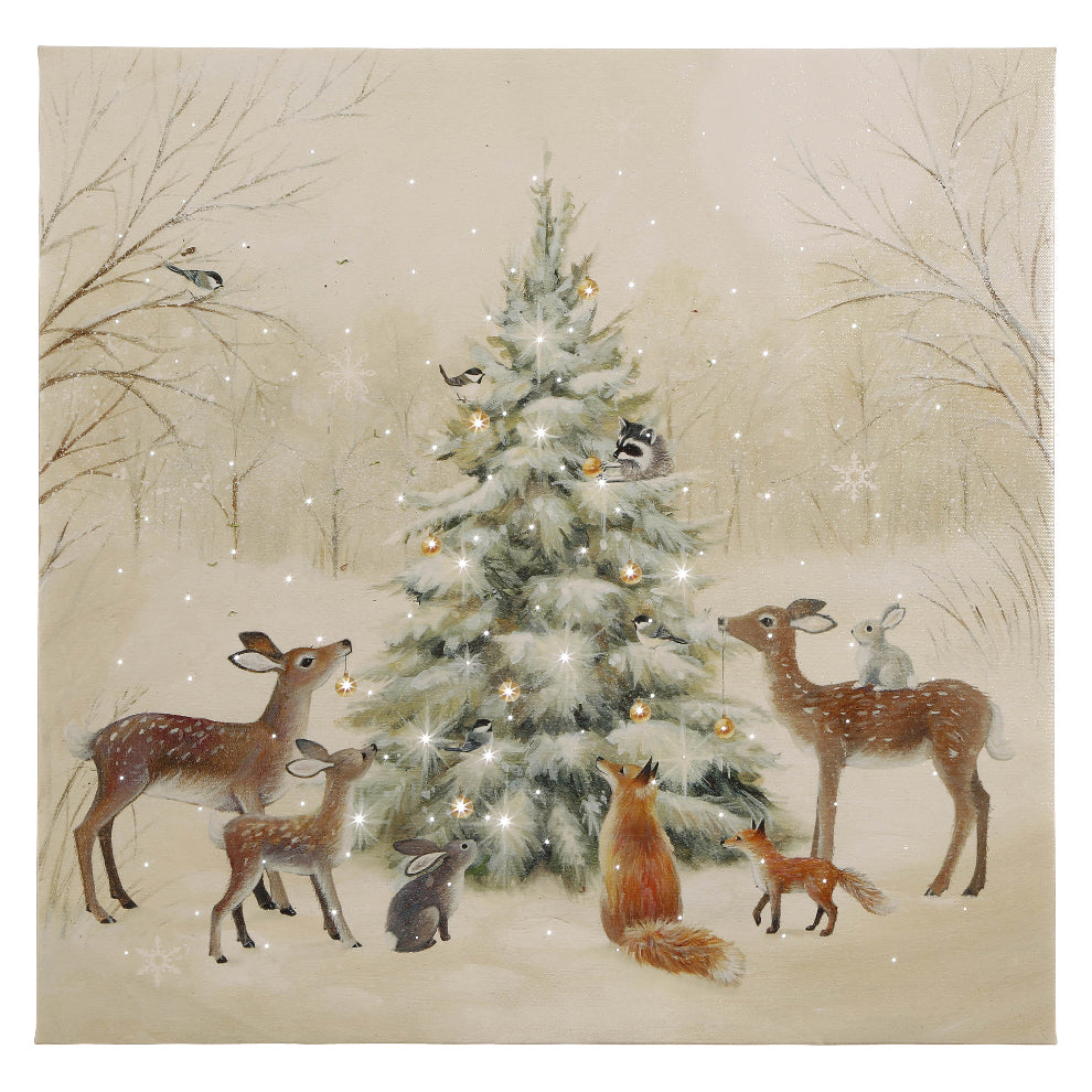 Woodland Animal Lighted Print