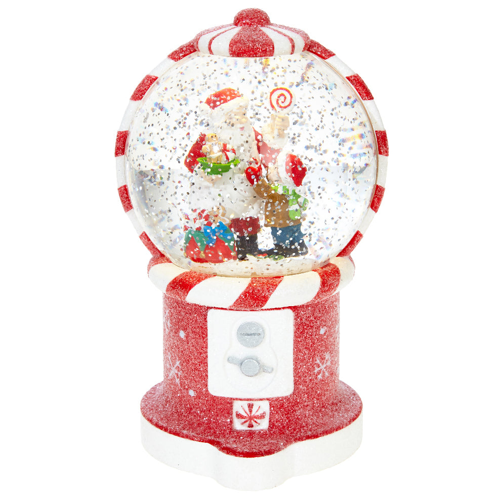 Lighted Santa in Gumball Machine Snowglobe
