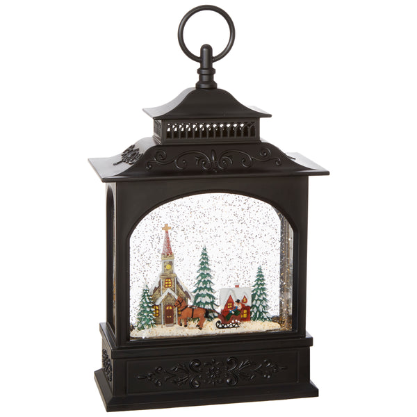 Christmas Town in Lighted Water Lantern