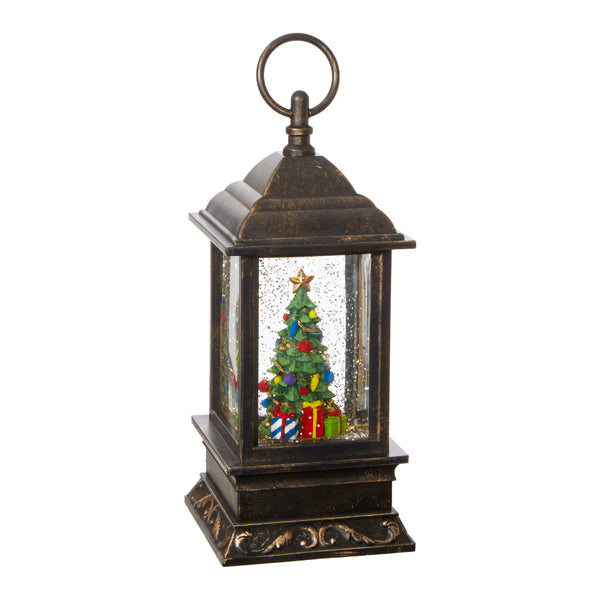Lighted Christmas Tree in Water Lantern