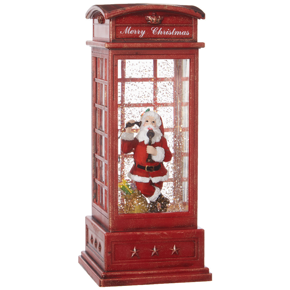 Red Phone Booth Santa