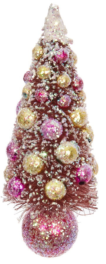 Tinsel Bottle Brush Christmas Tree Ornament