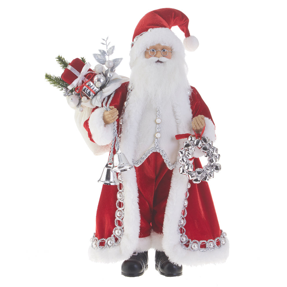 Jingle Bell Santa Claus Figurine
