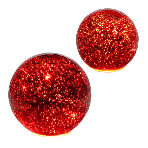 Red Lighted Glass Ball
