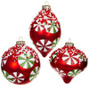 Glass Peppermint Ornaments