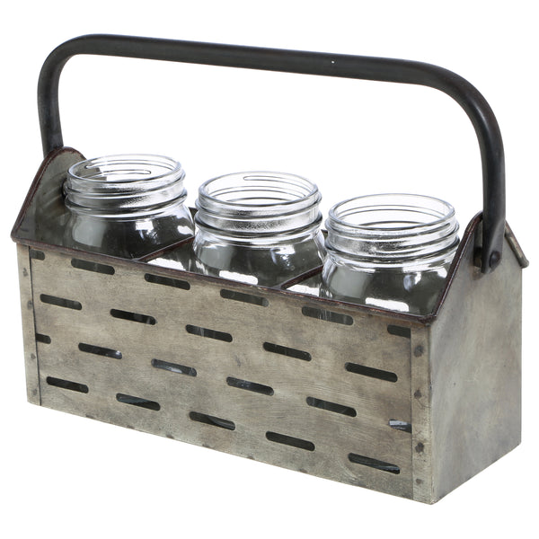 Triple Mason Jar Basket