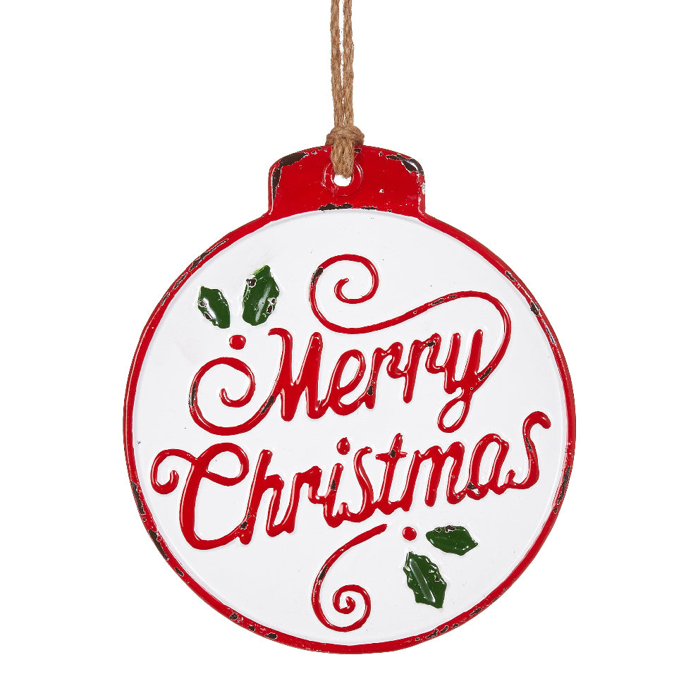 Merry Christmas Ornament Red, White and Green Red writing – Paul ...
