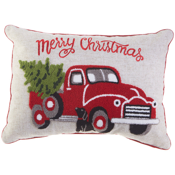 Truck with Tree Pillow