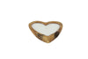 Large Heart Shaped Teak Candle
