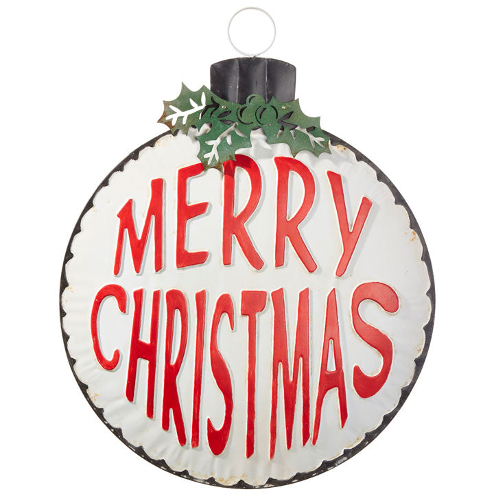 Merry Christmas Ornament Wall Decor