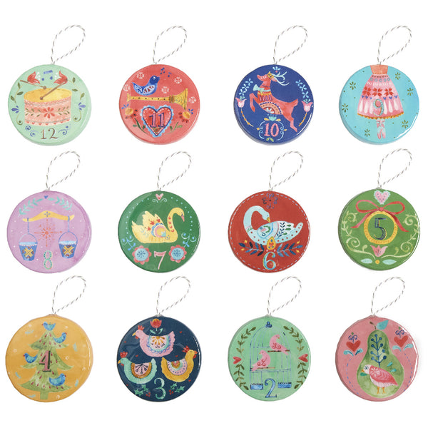 Twelve Days of Christmas Ornaments