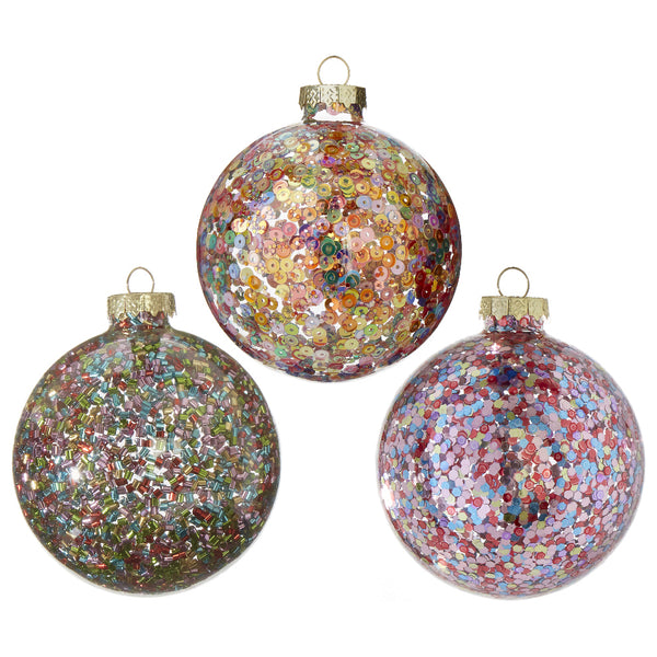 Glitter Party Ornaments