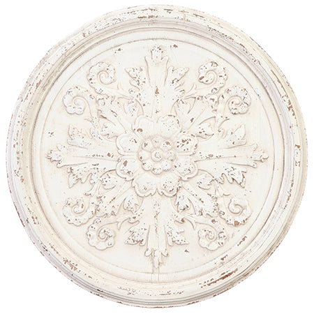 Cream Medallion Wood Wall Art