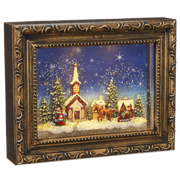 Merry Town Lighted Picture Frame