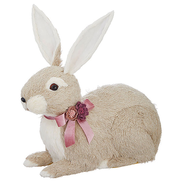 Laying Flower Bow Bunny