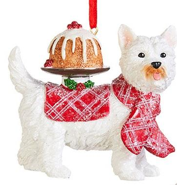 Pup with Cake Ornament