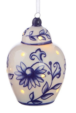 Ginger Jar Lit Ornament