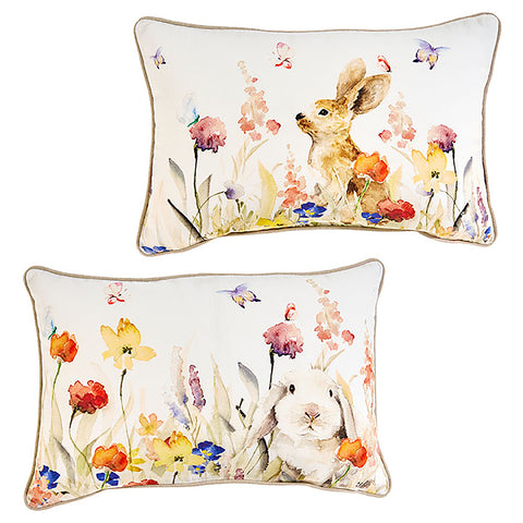 Bunny in Flowers Pillows