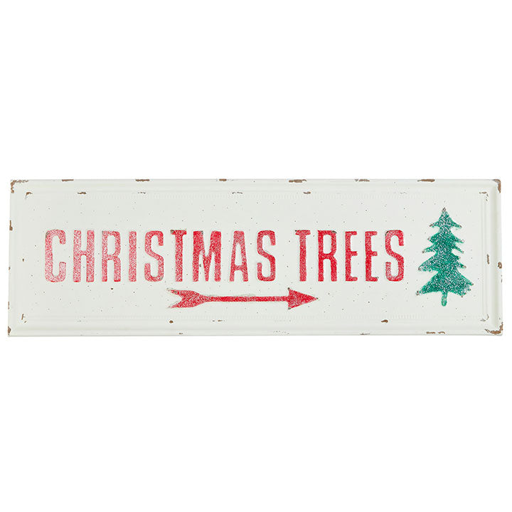 Iron Christmas Trees Sign