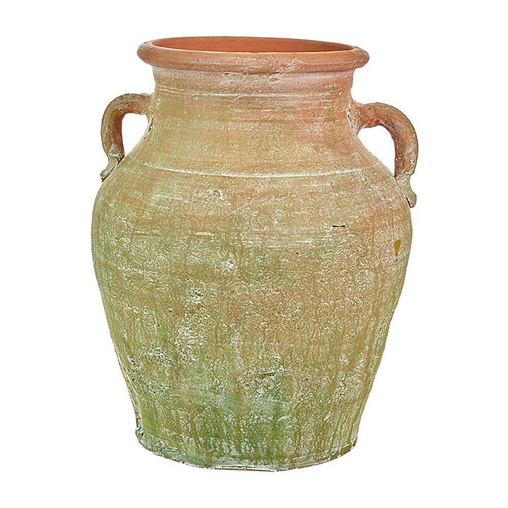 Moss Stained Terracotta Pot