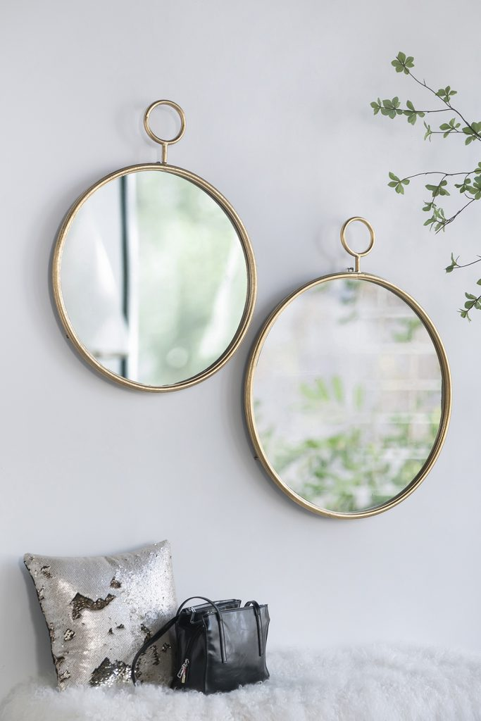 Gold Framed Accent Mirror