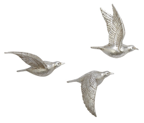 Set of Three Birds Wall Decor