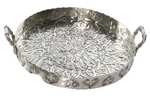 Intricate Aluminum Round Tray