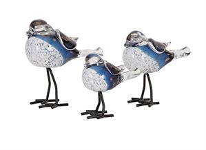 Handcrafted Glass and Metal Birds