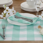 Green and White Buffalo Plaid Napkins