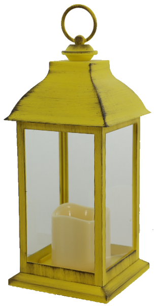 Yellow Lantern with Timer
