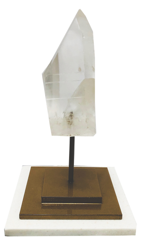 Quartz Crystal Mounted On Onyx Base