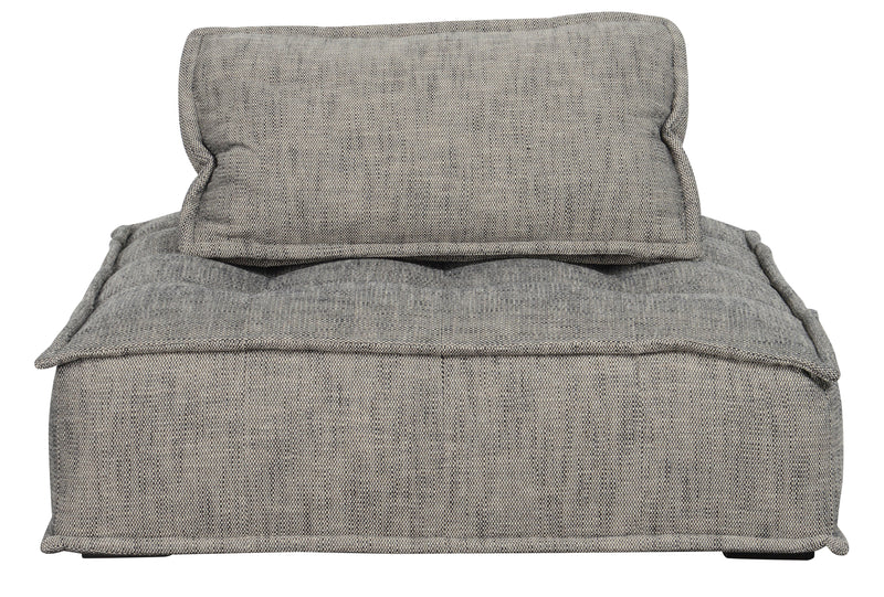Elemental Grey Square Lounge Chair