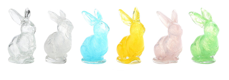 Small Colored Glass Bunnies