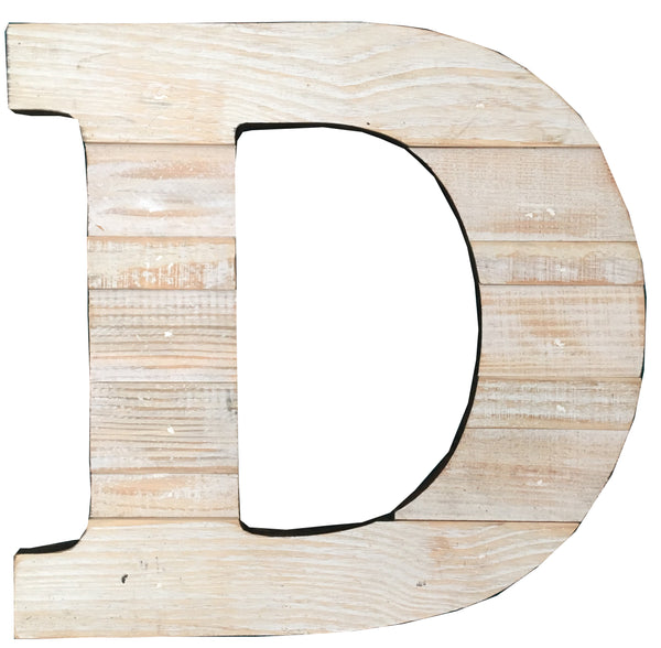wooden letter d recycled wood letters paul michael company 25673