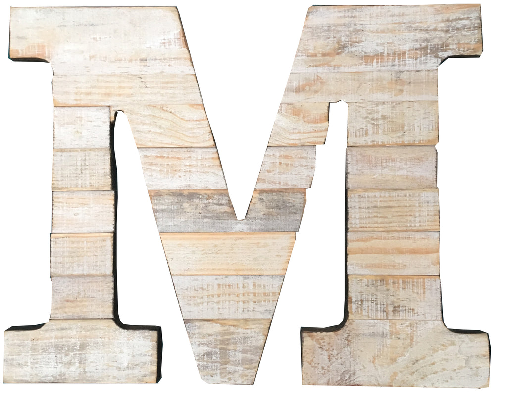 Pine Wood Letter M