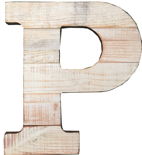 Pine Wood Letter P