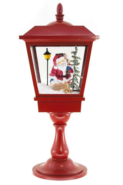 Red Electronic Santa Globe - Paul Michael Company