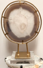 Gold Framed Agate Slice on Lucite Base