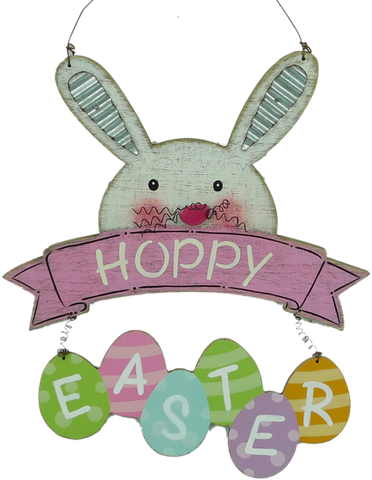 Hoppy Easter Bunny Sign