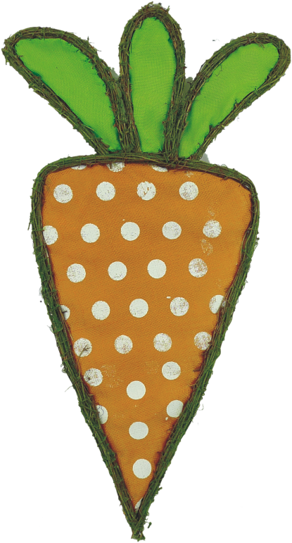 Polka Dot Carrot Door Hanger