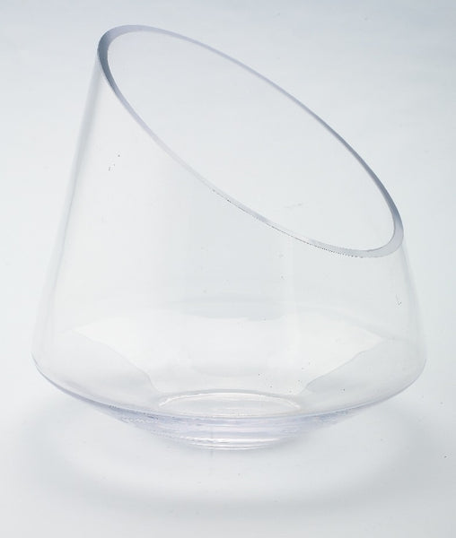 Angled Glass Container