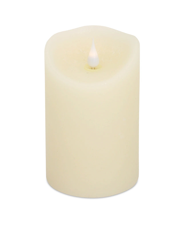 Led Melted Pillar Candle Five Inch