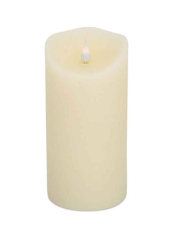 Led Melted Pillar Candle Seven Inches